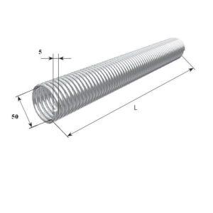 Пружины торсионного механизма секционных ворот. Диаметр 50 32055/m/RAL7004