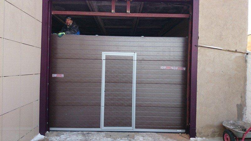 Наши работы по монтажу автоматических ворот в Астане